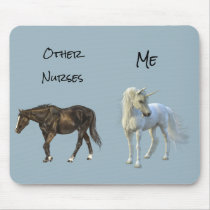 Other Nurses Me Nursing Gift Unicorn Horse Mouse Pad