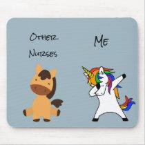 Other Nurses Me Nursing Gift Unicorn Horse Mouse Pad