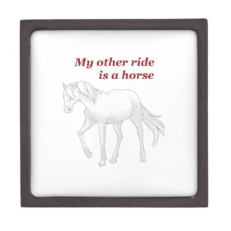 OTHER RIDE IS A HORSE PREMIUM KEEPSAKE BOX