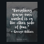 "&quot;Other Side of Fear&quot; Cursive Quote Poster<br><div class=""desc"">Find strength and hope in this inspirational print.</div>"