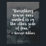 """&quot;Other Side of Fear&quot; Cursive Quote Poster<br><div class=""""desc"""">Find strength and hope in this inspirational print.</div>"""