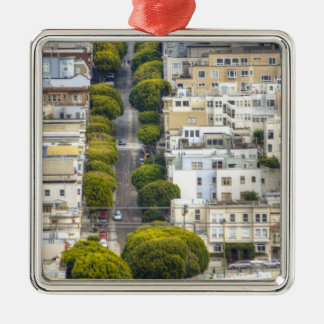 Other Side Of Lombard Square Metal Christmas Ornament