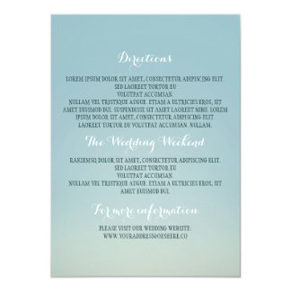 Other Wedding Details Card
