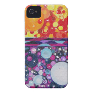 Other Worlds Abstract Fantasy Art orange purple Case-Mate iPhone 4 Case