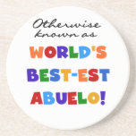 Otherwise Known As Best-est Abuelo Beverage Coaster