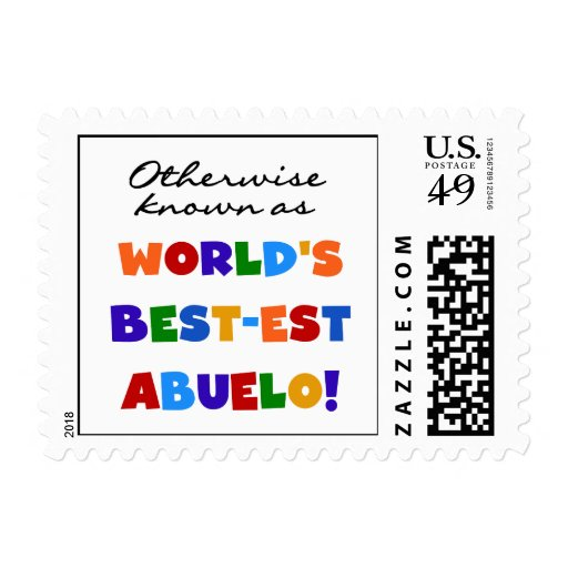 Otherwise Known as Best-est Abuelo Gifts Postage Stamp