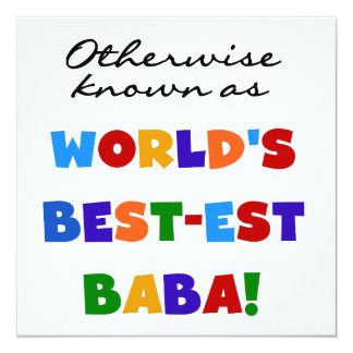 Otherwise Known as Best-est Baba T-shirts and Gift Card