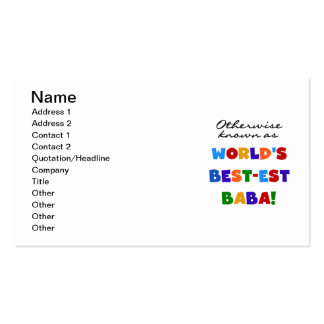 Otherwise Known as Best-est Baba T-shirts and Gift Double-Sided Standard Business Cards (Pack Of 100)