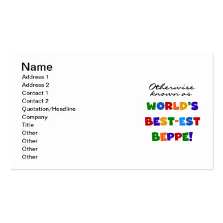 Otherwise Known as Best-est Beppe Business Card