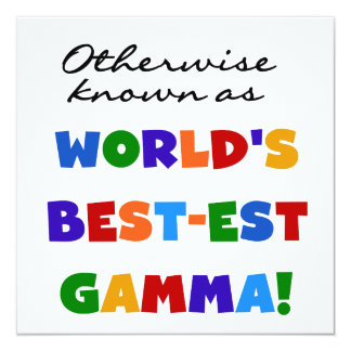 Otherwise Known as Best-est Gamma Gifts 5.25x5.25 Square Paper Invitation Card