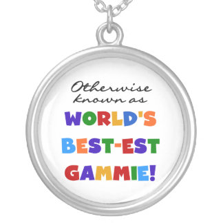 Otherwise Known as Best-est Gammie Tshirts Round Pendant Necklace
