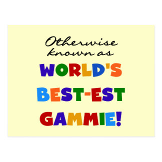Otherwise Known as Best-est Gammie Tshirts Postcard