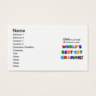 Otherwise Known as Best-est Grammie Gifts Business Card