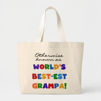 Otherwise Known as Best-est Grampa Tshirts Jumbo Tote Bag