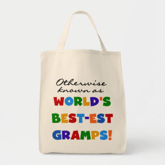 Otherwise Known as Best-est Gramps Grocery Tote Bag