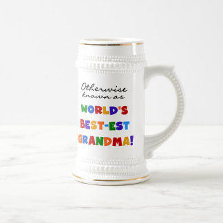Otherwise Known as Best-est Grandma Gifts Beer Stein