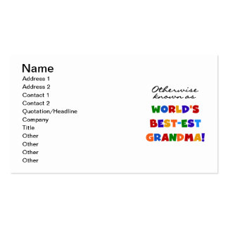 Otherwise Known as Best-est Grandma Gifts Business Card
