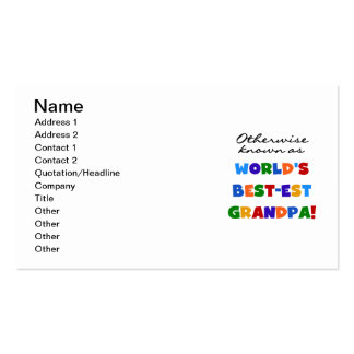 Otherwise Known as Best-est Grandpa Gifts Business Card