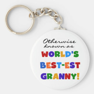 Otherwise Known as Best-est Granny Gifts Keychain