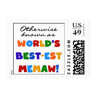 Otherwise Known as Best-est Memaw Tshirts Postage Stamps