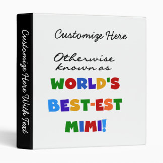 Otherwise Known as Best-est Mimi Gifts Vinyl Binders