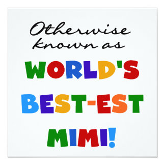 Otherwise Known as Best-est Mimi Gifts 5.25x5.25 Square Paper Invitation Card
