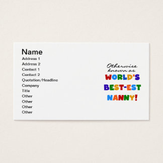 Otherwise Known as Best-est Nanny Gifts Business Card
