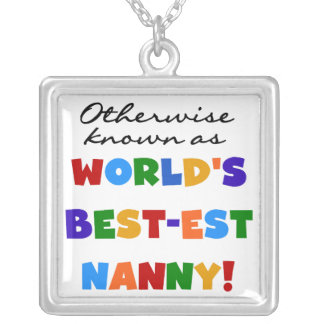 Otherwise Known as Best-est Nanny Gifts Square Pendant Necklace