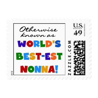 Otherwise Known as Best-est Nonna Tshirts Gifts Stamp