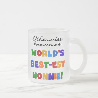 Otherwise Known as Best-est Nonnie Gifts 10 Oz Frosted Glass Coffee Mug