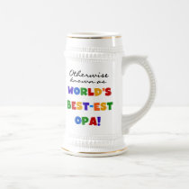 Otherwise Known as Best Opa T-shirts and Gifts Beer Stein