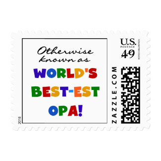 Otherwise Known as Best Opa T-shirts and Gifts Stamp