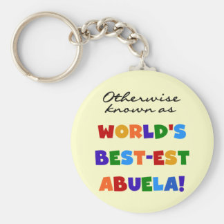 Otherwise Known as World's Best-est Abuela Gifts Basic Round Button Keychain