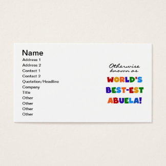 Otherwise Known as World's Best-est Abuela Gifts Business Card