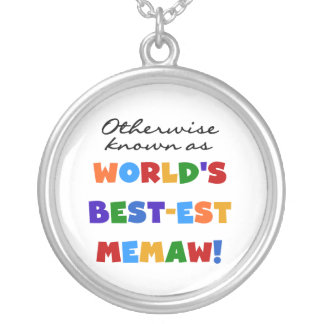 Otherwise known as World's Best-est Memaw Silver Plated Necklace