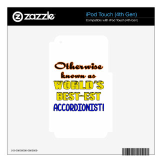 Otherwise known as world's bestest Accordionist Decal For iPod Touch 4G