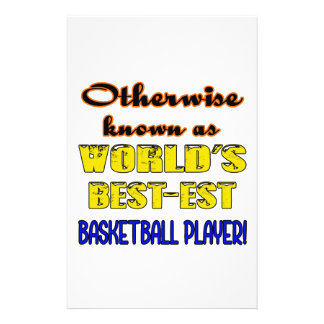 Otherwise known as world's bestest Basketball play Stationery