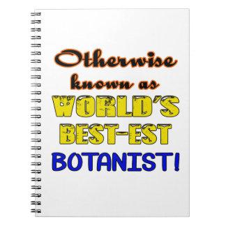 Otherwise known as world's bestest Botanist Spiral Notebook