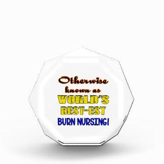Otherwise known as world's bestest Burn nursing Acrylic Award