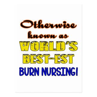 Otherwise known as world's bestest Burn nursing Postcard