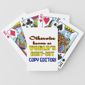 Otherwise known as world's bestest Copy editor Bicycle Playing Cards