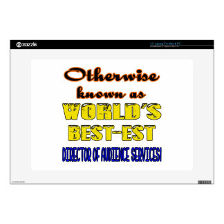 """Otherwise known as world's bestest Director of Aud 15"""" Laptop Decals"""