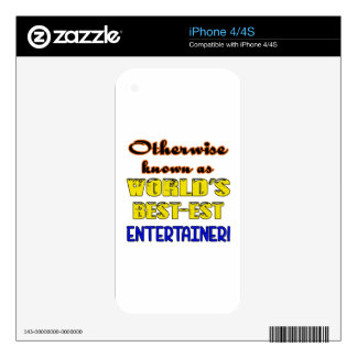 Otherwise known as world's bestest Entertainer iPhone 4 Decals