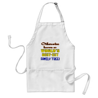 Otherwise known as world's bestest family tree adult apron