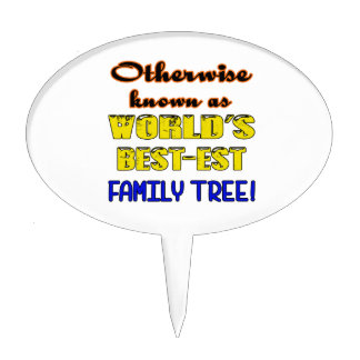 Otherwise known as world's bestest family tree cake topper