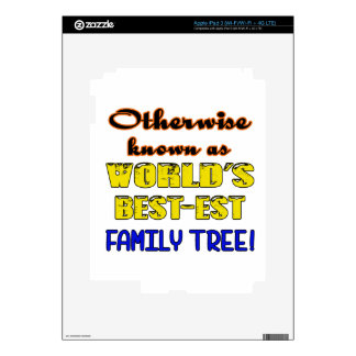 Otherwise known as world's bestest family tree decal for iPad 3