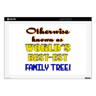 Otherwise known as world's bestest family tree decals for laptops
