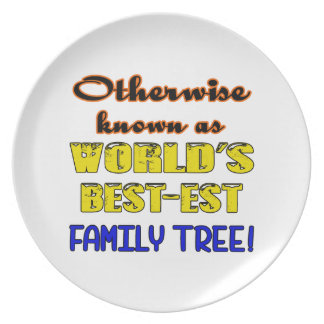 Otherwise known as world's bestest family tree dinner plate