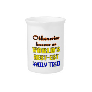 Otherwise known as world's bestest family tree drink pitcher