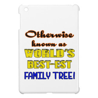 Otherwise known as world's bestest family tree iPad mini cover